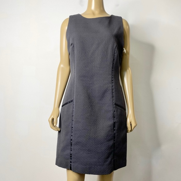 J. McLaughlin Textured Sleeveless Sheath Dress